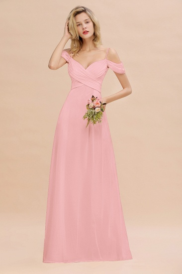 BMbridal Off-the-Shoulder Sweetheart Ruched Long Bridesmaid Dress Online_4