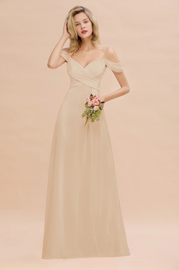 BMbridal Off-the-Shoulder Sweetheart Ruched Long Bridesmaid Dress Online_14