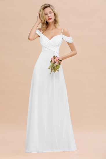 BMbridal Off-the-Shoulder Sweetheart Ruched Long Bridesmaid Dress Online_1