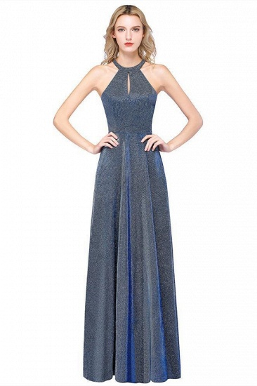 BMbridal Fashion A-Line Halter Sleeveless Evening Dress