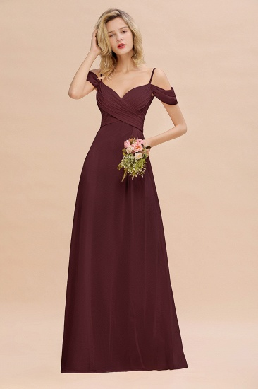 BMbridal Off-the-Shoulder Sweetheart Ruched Long Bridesmaid Dress Online_47