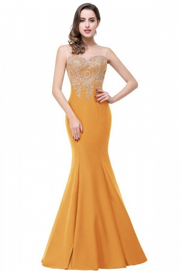 BMbridal Sleeveless Mermaid Long Evening Gowns With Lace Appliques_14