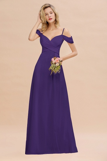 BMbridal Off-the-Shoulder Sweetheart Ruched Long Bridesmaid Dress Online_19