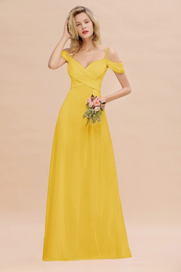 BMbridal Off-the-Shoulder Sweetheart Ruched Long Bridesmaid Dress Online_17