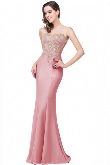 BMbridal Sleeveless Mermaid Long Evening Gowns With Lace Appliques_10