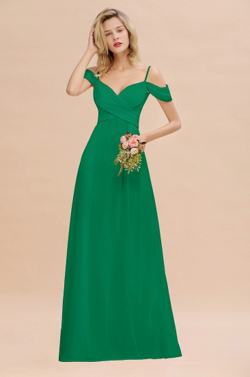 BMbridal Off-the-Shoulder Sweetheart Ruched Long Bridesmaid Dress Online_49