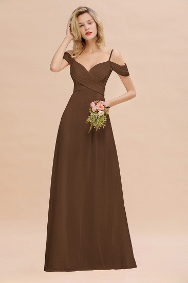 BMbridal Off-the-Shoulder Sweetheart Ruched Long Bridesmaid Dress Online_12