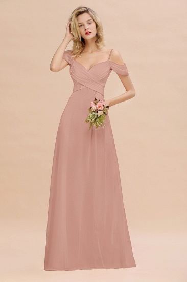 BMbridal Off-the-Shoulder Sweetheart Ruched Long Bridesmaid Dress Online_6