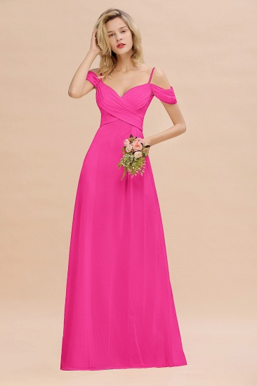 BMbridal Off-the-Shoulder Sweetheart Ruched Long Bridesmaid Dress Online_9