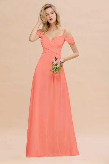 BMbridal Off-the-Shoulder Sweetheart Ruched Long Bridesmaid Dress Online_45