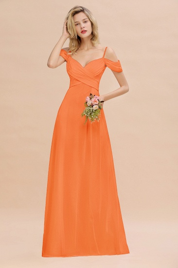 BMbridal Off-the-Shoulder Sweetheart Ruched Long Bridesmaid Dress Online_15