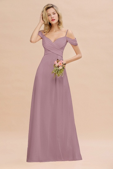 BMbridal Off-the-Shoulder Sweetheart Ruched Long Bridesmaid Dress Online_43