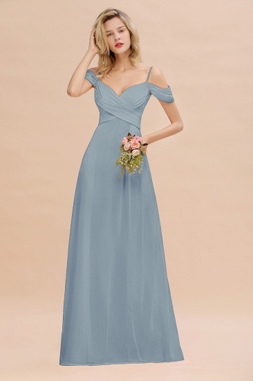 BMbridal Off-the-Shoulder Sweetheart Ruched Long Bridesmaid Dress Online_40