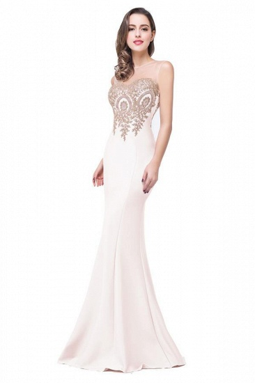 BMbridal Sleeveless Mermaid Long Evening Gowns With Lace Appliques_13