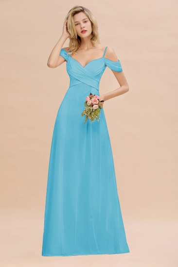 BMbridal Off-the-Shoulder Sweetheart Ruched Long Bridesmaid Dress Online_24