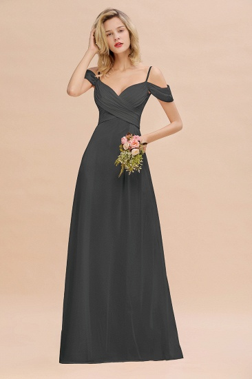 BMbridal Off-the-Shoulder Sweetheart Ruched Long Bridesmaid Dress Online_46