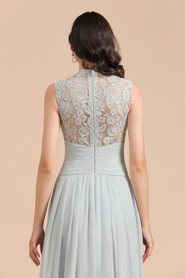 BMbridal Mist High-Neck Lace Bridesmaid Dress Long Online_9