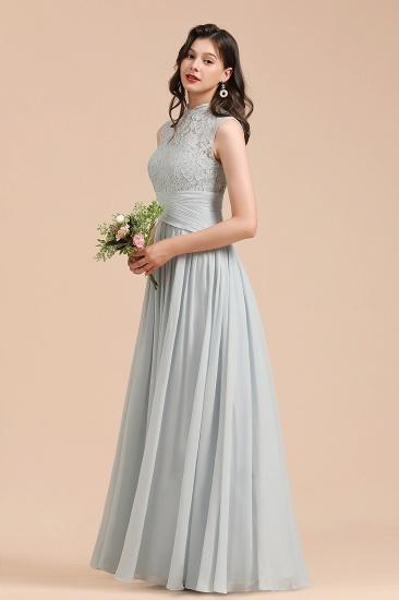 BMbridal Mist High-Neck Lace Bridesmaid Dress Long Online_7