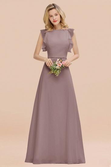 BMbridal Simple Jewel Draped Sleeves Blushing Pink Bridesmaid Dress Online_37