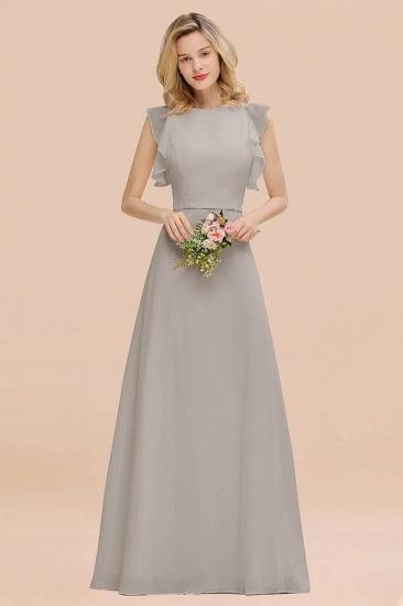 BMbridal Simple Jewel Draped Sleeves Blushing Pink Bridesmaid Dress Online_30