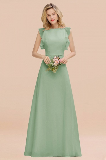 BMbridal Simple Jewel Draped Sleeves Blushing Pink Bridesmaid Dress Online_41