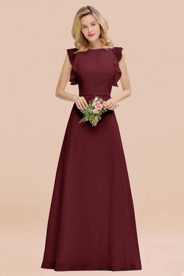 BMbridal Simple Jewel Draped Sleeves Blushing Pink Bridesmaid Dress Online_10