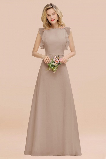 BMbridal Simple Jewel Draped Sleeves Blushing Pink Bridesmaid Dress Online_16