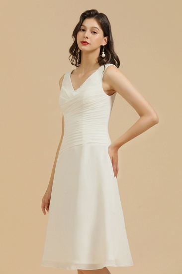 BMbridal V-Neck Knee-length Chiffon Bridesmaid Dress online_4