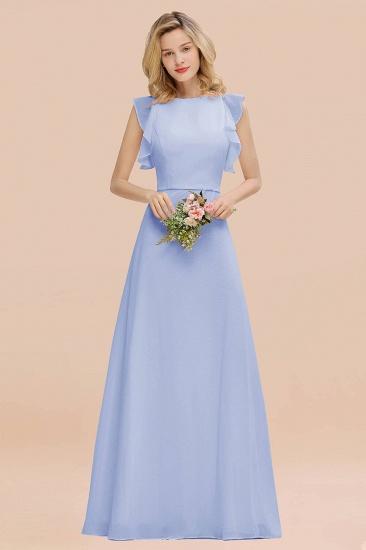BMbridal Simple Jewel Draped Sleeves Blushing Pink Bridesmaid Dress Online_22