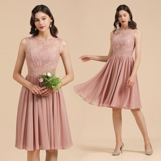 BMbridal Short Lace Dusty Rose Junior Bridesmaid Dress_10