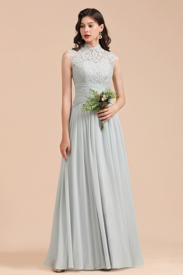 BMbridal Mist High-Neck Lace Bridesmaid Dress Long Online