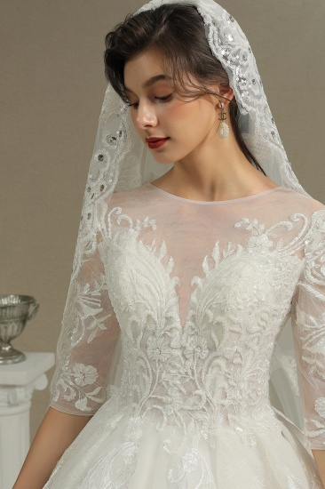 BMbridal Long Sleeves Lace Wedding Dress Luxury Online_8