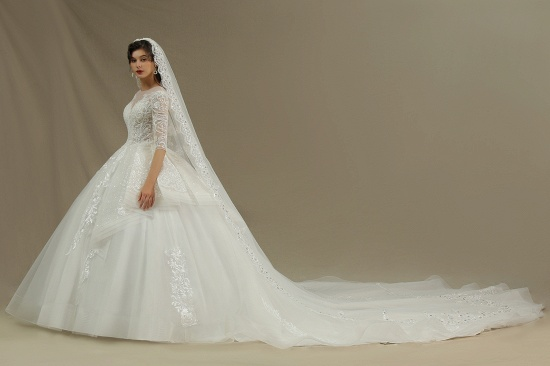 BMbridal Long Sleeves Lace Wedding Dress Luxury Online_5
