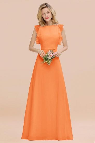 BMbridal Simple Jewel Draped Sleeves Blushing Pink Bridesmaid Dress Online_15