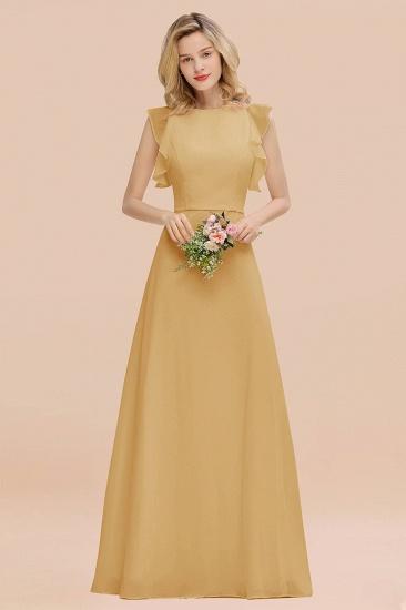 BMbridal Simple Jewel Draped Sleeves Blushing Pink Bridesmaid Dress Online_13