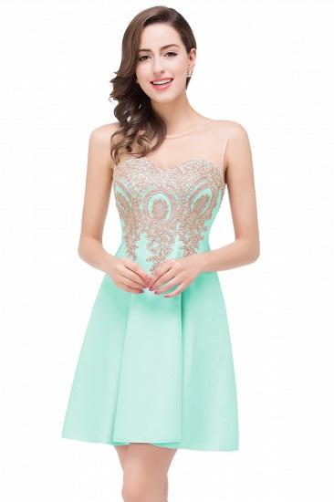 BMbridal Short Applique Sleeveless Prom Homecoming Dress_5