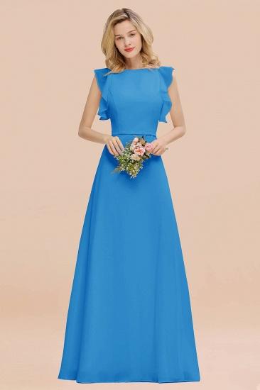 BMbridal Simple Jewel Draped Sleeves Blushing Pink Bridesmaid Dress Online_25