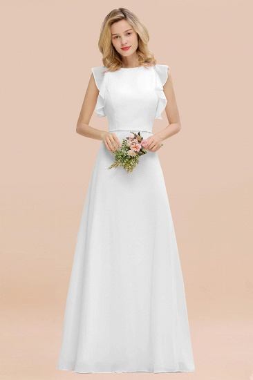 BMbridal Simple Jewel Draped Sleeves Blushing Pink Bridesmaid Dress Online_1