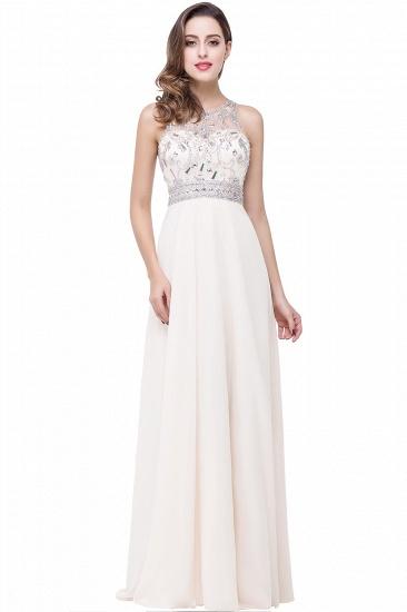 BMbridal A-line Jewel Chiffon Prom Dress with Beading_1