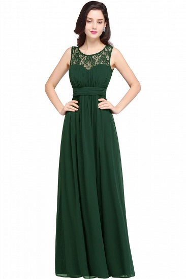 BMbridal Elegant Lace Chiffon Affordable Long Navy Bridesmaid Dresses In Stock_9
