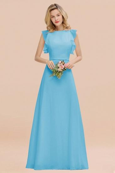 BMbridal Simple Jewel Draped Sleeves Blushing Pink Bridesmaid Dress Online_24