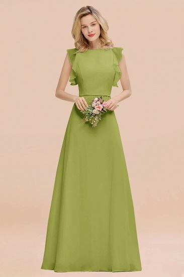 BMbridal Simple Jewel Draped Sleeves Blushing Pink Bridesmaid Dress Online_34