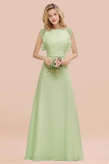 BMbridal Simple Jewel Draped Sleeves Blushing Pink Bridesmaid Dress Online_35