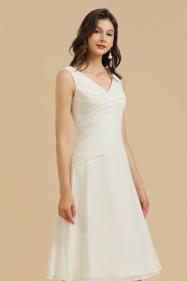 BMbridal V-Neck Knee-length Chiffon Bridesmaid Dress online_6