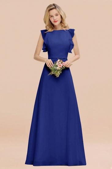 BMbridal Simple Jewel Draped Sleeves Blushing Pink Bridesmaid Dress Online_26