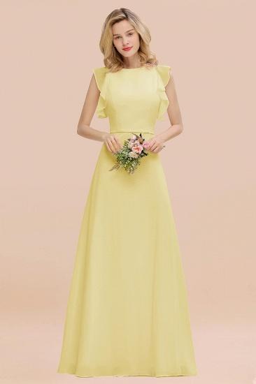 BMbridal Simple Jewel Draped Sleeves Blushing Pink Bridesmaid Dress Online_18
