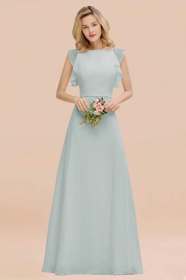 BMbridal Simple Jewel Draped Sleeves Blushing Pink Bridesmaid Dress Online_38