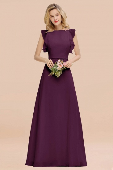 BMbridal Simple Jewel Draped Sleeves Blushing Pink Bridesmaid Dress Online_20