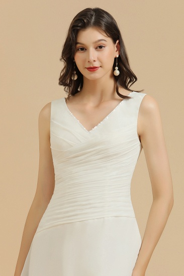 BMbridal V-Neck Knee-length Chiffon Bridesmaid Dress online_7