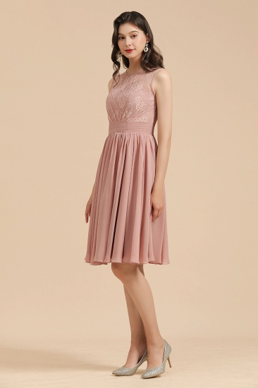 BMbridal Short Lace Dusty Rose Junior Bridesmaid Dress_5